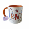 Orange Tasse mit Namen